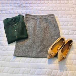 Banana Republic Brown Tweed Skirt Size 0